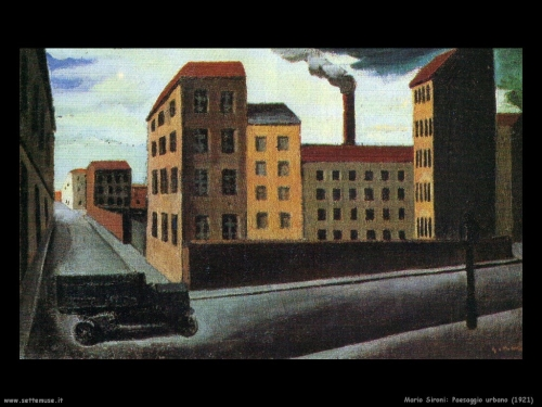 Milano mario sironi paesaggio urbano 1921