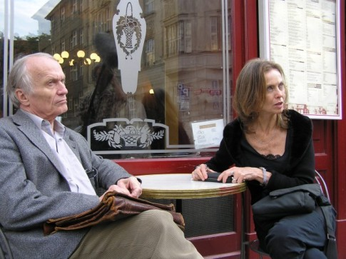 Petr Král, con Jana Bokova