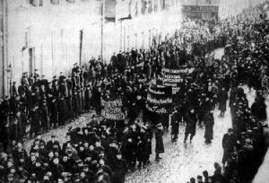rivoluzione d'ottobre manifestazione