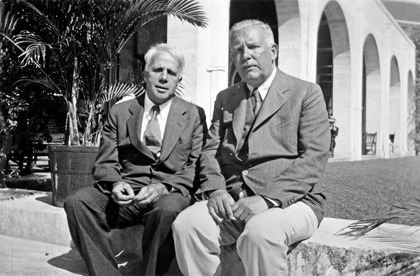 Wallace Stevens. Photo of Robert Frost and Stevens at the Casa Marina Hotel in Key West, ca. 1940