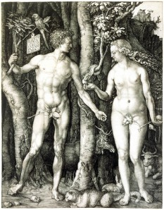 Albrecht Durehr The Fall of Man (Adam and Eve) 1504