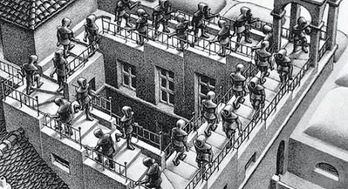 Escher Maurits Cornelis passeggiata