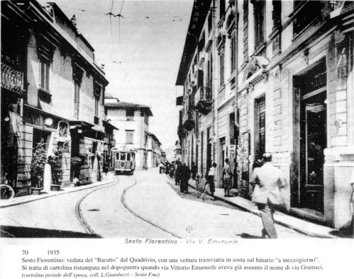 Firenze-SestoFiorentino cartolina d'epoca ristampata nel dopo guerra