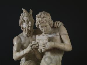 satiro con efebo copia romana di originale greco
