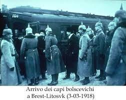 arrivo dei capi bolscevichi a Brest Litovsk 3 marzo 1918
