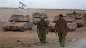 esercito israeliano in azione di guerra