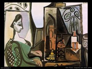 picasso jacqueline_nello_studio 1956