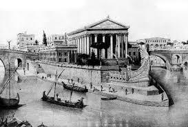 Isola Tiberina ricostruzione Roma antica
