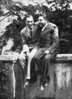 Vitezslav Nezval con Soupault 1928