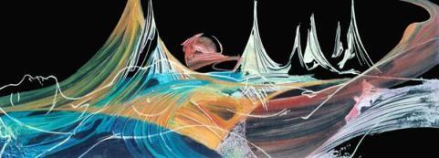 Giuseppe Pedota Panorama di pianeta spento, anni Novanta