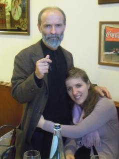Gezim  Hajdari con la sua compagna Iris Hajdari, Marsiglia 2012
