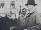 Otokar Březina con il presidente Masaryk