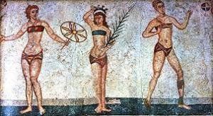 gioco della palla pittura parietale stile pompeiano