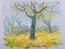 Werner Haselhuhn, Herbstliche Baumlandschaft, 1994