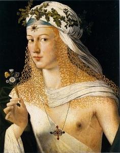 Bartolomeo Veneziano Lucrezia (Borgia) in décolleté