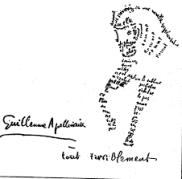 Apollinaire Poema calligrafico
