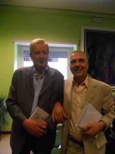 Antonio Coppola e Giorgio Linguaglossa 2014 Roma presentazione alla FUIS