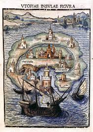 utopia Illustrazione dalla prima edizione dell'Utopia di Tommaso Moro, pubblicata a Lovanio nel 1516