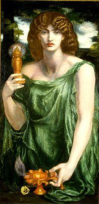 Pittura Mnemosyne di Dante Gabriele Rossetti