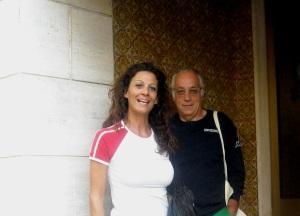Sabino Caronia con la Musa Clio