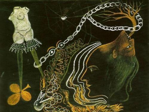Cadavre exquis – André breton,Valentine Gross, Tristan Tzara, Greta Knutson – 1933