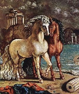 de chirico I cavalli divini di Achille Balio e Xanto