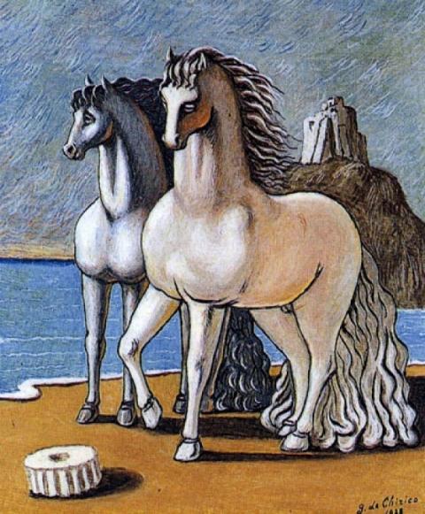 giorgio de chirico cavalli