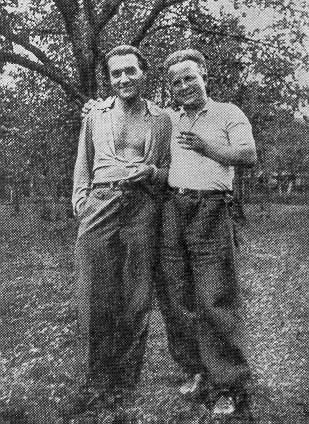 František Halas con Vladimir Holan