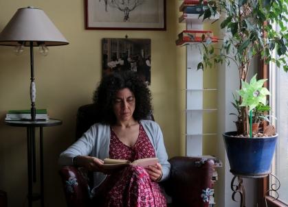 Maria Grazia Calandrone 28.4.15 foto Omri Lior