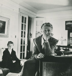 Marianne Moore with her mother, Mary Warner Moore, at home