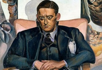 Eliot Portrait of T.S. Eliot by Wyndham Lewis (1938).