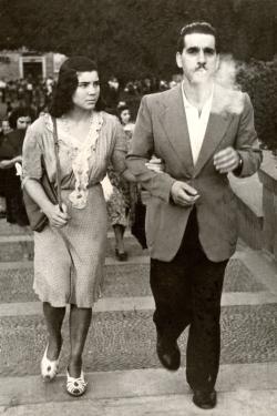 foto dei miei genitori, Roma, 1946