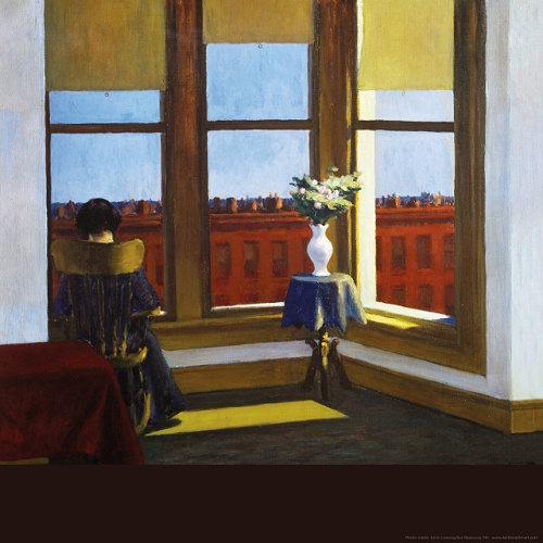 pittura edward hopper-room-in-brooklyn-18x18