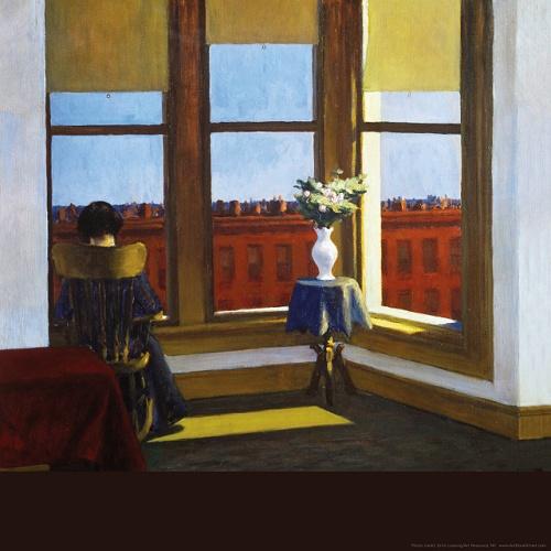 pittura edward hopper-room-in-brooklyn-18x18