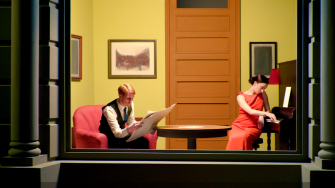 Edward Hopper room in New York.