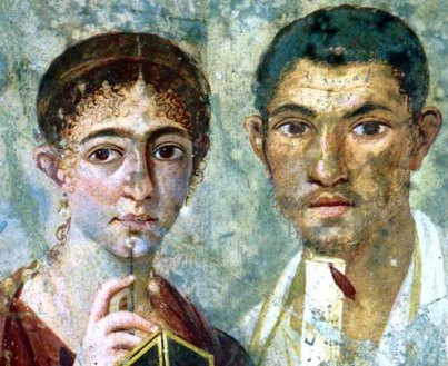 Pompei, affresco 55-79 d.C., Terenzio Neo e la moglie