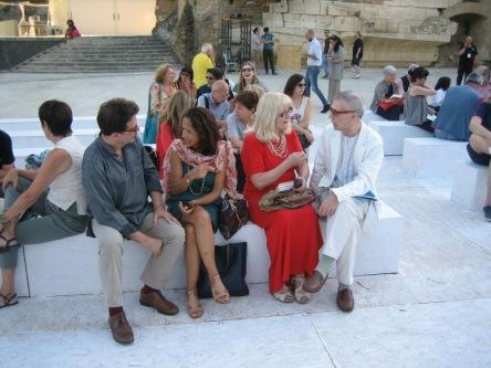 Duska Vrhovac, Giorgio Linguaglossa e Steven Grieco Roma, 25 giugno 2015 Isola Tiberina