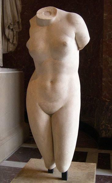 grecia Afrodite Cnidia (copia ellenistico-romana da un originale di Prassitele, 360 a.C.).