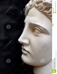 Ritratto del dio del greco antico di luce, Apollo.
