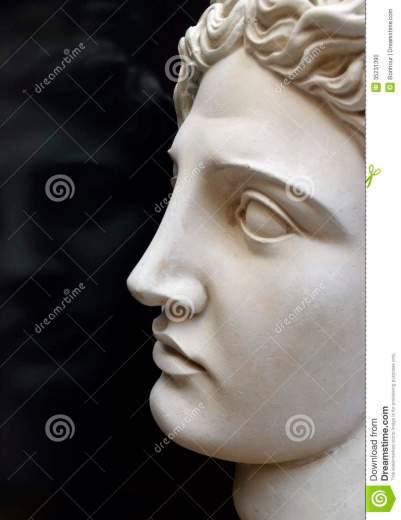 Ritratto del dio greco antico della luce, Apollo.