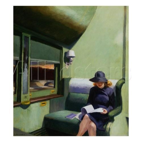 pittura Edward Hopper Compartimento C vagone 293