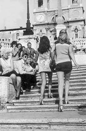 Roma trinità dei monti anni Sessanta
