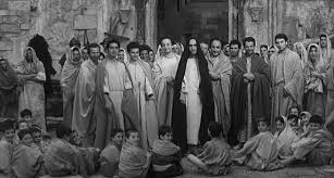 Gesù fotogramma film Il vangelo secondo Matteo