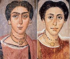 Fayyum ritratti di donne romane 120 - 140 d.C.