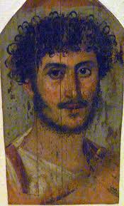 Fayyum portrait d'homme (120-140 d.C.)