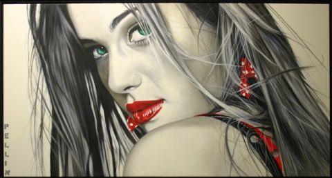 Cinzia Pellin I Migliori Anni, 2009, olio su tela, cm79x149