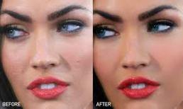 volto di donna bis, prima e dopo il trucco, il super linguaggio professionale