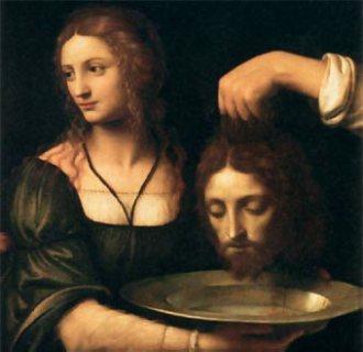 Salomé recibe la cabeza del Bautista, de Bernardino Luini