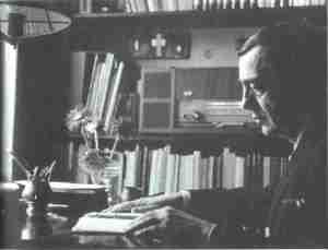Vasko Popa u svom domu