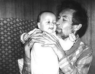 Gennadij Ajgi con il figlio